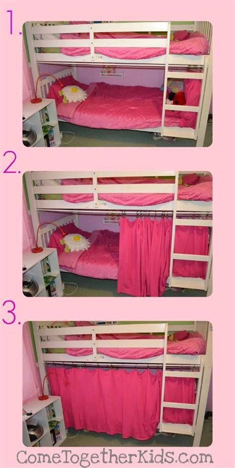 Bunk Bed Privacy Curtain Diy Bottom Bunk Fort Tension Rod Curtain Privacy If Only I Had Known That All Those Times