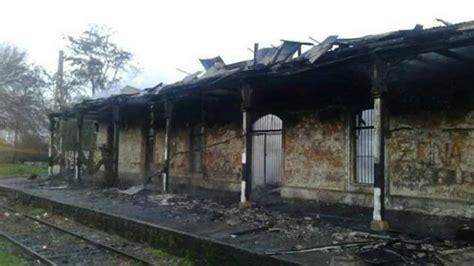 fotos antiguas quillota incendio destruy 243 hist 243 rica estaci 243 n de trenes de quillota