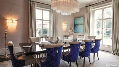 White Leather Dining Room Chairs by Luxurious Formal Dining Room Design Ideas Elegant