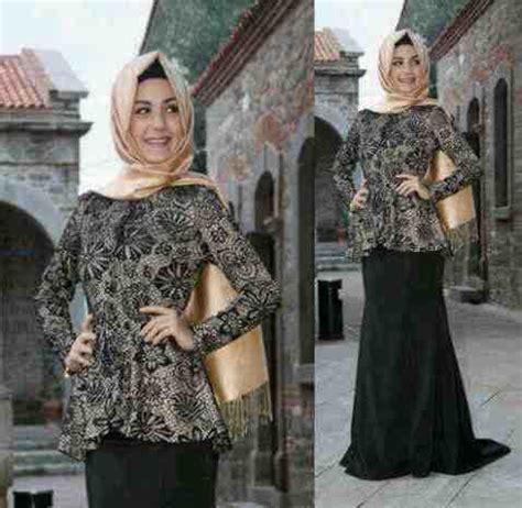 Maxi Kunara Satin Hitam Size L baju gamis pesta modern brokat rg120 gaun muslimah model