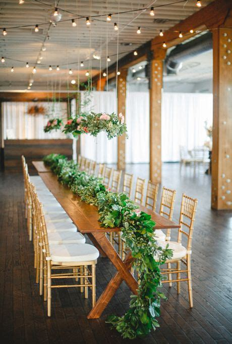 picture of stunning greenery wedding table runners 18