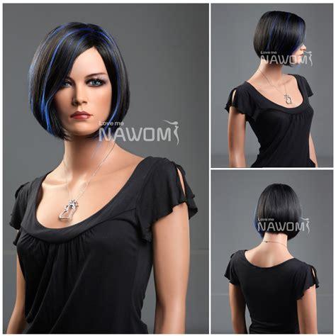 below chin length hair and hair putty cosplay kanekalon highlight side swept bang chin length