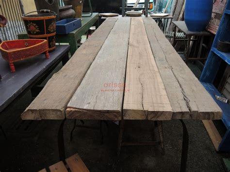 tavolo rustico tavolo rustico con assi e gamba in ferro cole0174