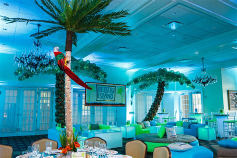 island themed decorations tropical island theme bat mitzvah in new jersey