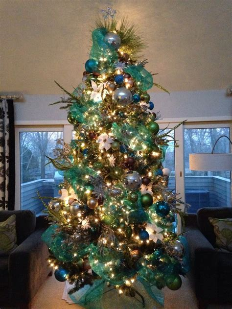 teal and lime christmas tree christmas pinterest