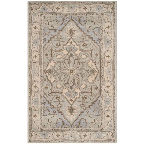 Safavieh Heritage Beige Gray 5 Ft X 8 Ft Area Rug Hg866a 5 Ft Area Rugs