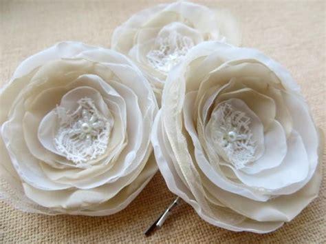 Bridal Flower Hair Clip Set bridal flower hair set of 3 bridal hair accessory