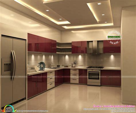 superb kitchen  bedroom interiors kerala home design
