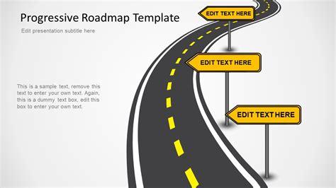 Progressive Roadmap Powerpoint Template Slidemodel Milestone Roadmap Template