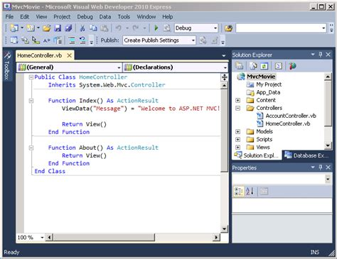 tutorial vb net mvc intro to asp net mvc 3 vb microsoft docs