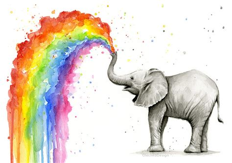 image gallery watercolor elephant