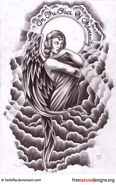 guardian angel wings tattoo designs angle cloud design tattoos wings
