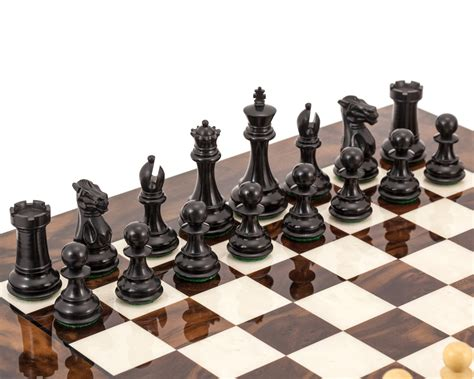 luxury chess set highclere ebony and walnut luxury chess set rcpb267 163