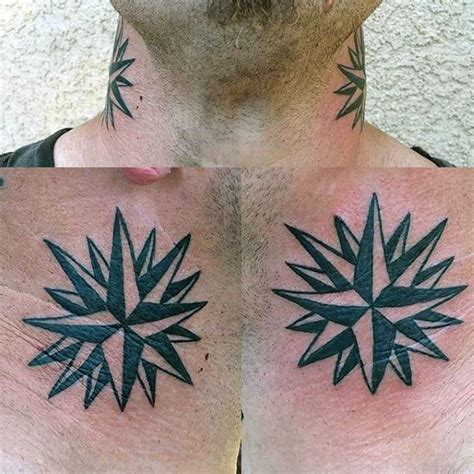star tattoos on neck for men 80 nautical designs for manly ink ideas