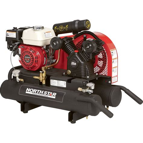 northstar gas powered air compressor  gal twin tank