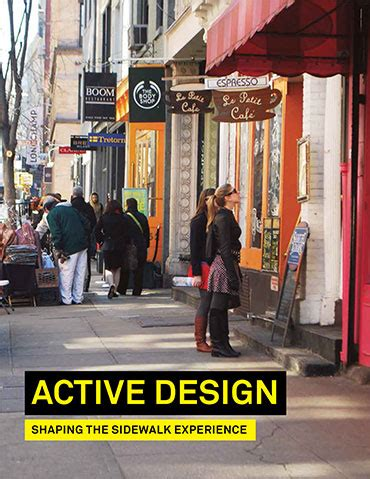 design guidelines new york active design supplement shaping the sidewalk experience