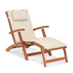 transat chaise longue bois coussin oogarden belgique