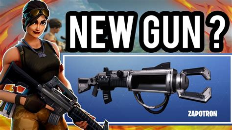 fortnite zapatron sniper fortnite new secret sniper gun fortnite zapatron