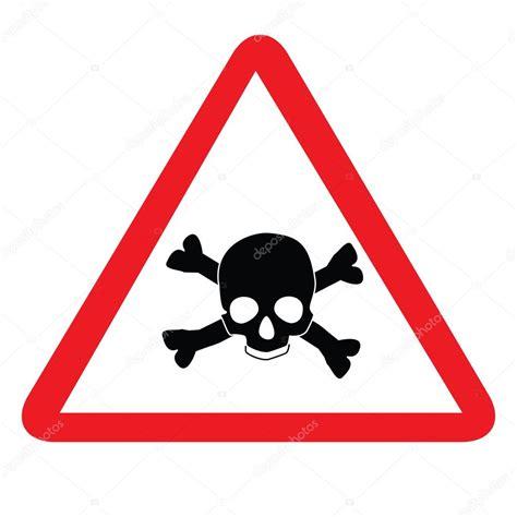 imagenes de calaveras toxicas signo t 243 xico con calavera vector de stock
