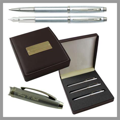 polished chrome desk accessories sheaffer 100 brushed chrome 3 piece presentation engraved