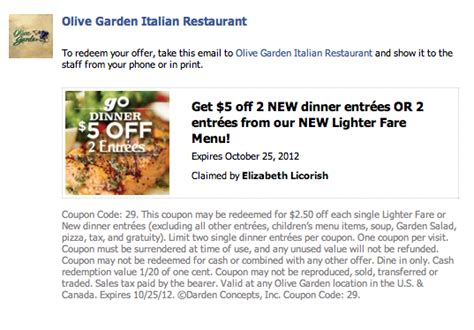 olive garden coupons with barcode olive garden coupon barcode