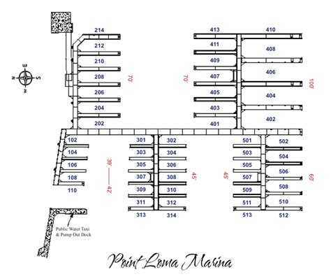 hrbr layout meaning slip services point loma marina san diego america s