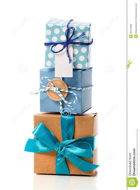 Handcraft Gift - stack of handcraft gift boxes royalty free stock photo