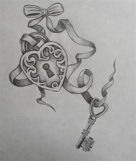 lock key tattoo designs key to my tattoos key designs
