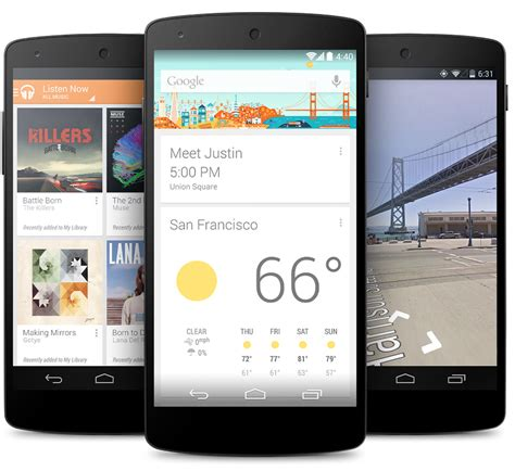 android nexus 5 nexus 5 with android 4 4 announced