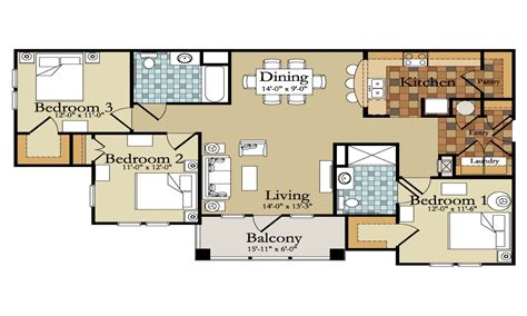 Modern 3 Bedroom House Floor Plans | affordable house plans 3 bedroom modern 3 bedroom house