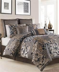 croscill ryland blue king comforter set bedding