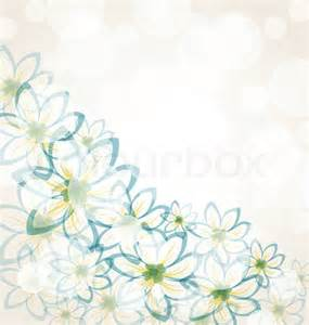 illustration spring flower background with transparency