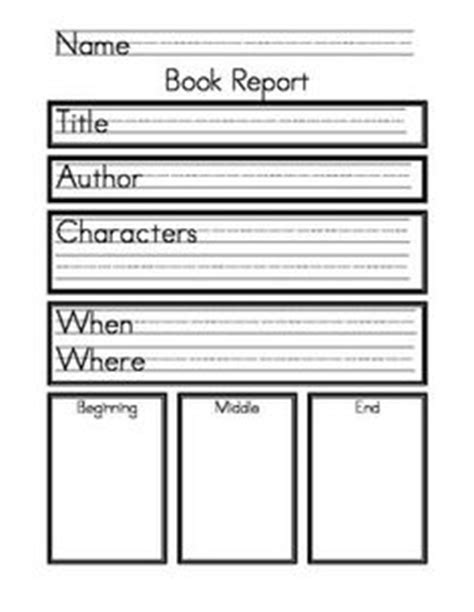 Second Grade Book Report Template Book Report Form For 2nd 3rd And 4th Grade Students 2nd Grade Book Report Template Free