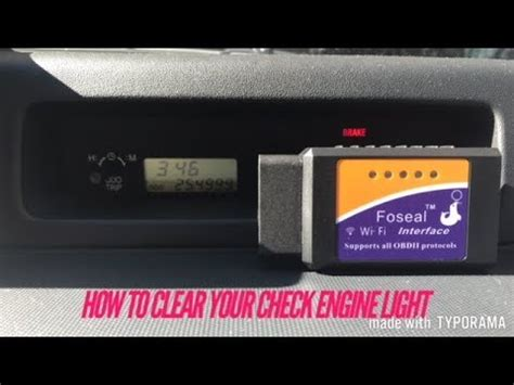 how to clear check engine light how to clear your check engine light foseal obdii scan