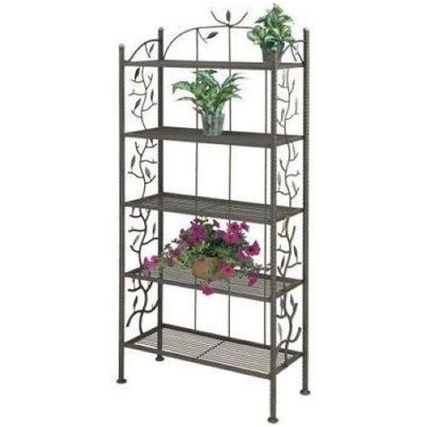 Flower Rack Shelves by Deer Park Ironworks Vine And Leaf Bakers Rack Br109