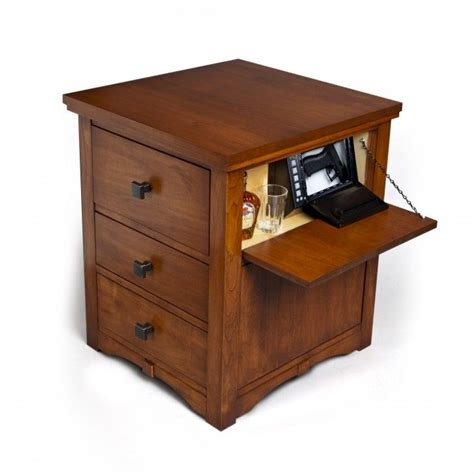 Under The Cabinet Coffee Makers by Nightstand Plans With Hidden Compartment Woodworking