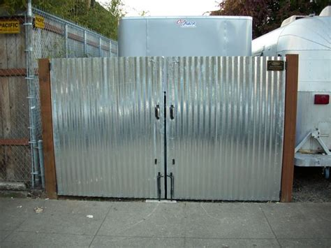 corrugated metal gate backyard pinterest pictures of