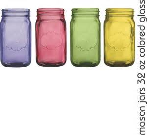 colored jars straws and jars vintage wedding colored jars