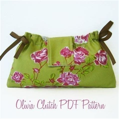 clutch purse templates clutch pdf sewing pattern and tutorial by alifoster
