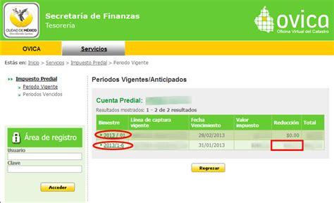 oficina virtual del catstro aprovecha los beneficios fiscales en el pago del predial 2013