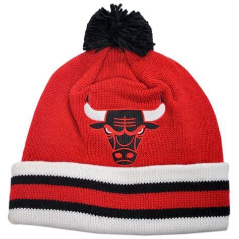 bulls knit hat mitchell ness chicago bulls nba cuffed knit beanie hat w