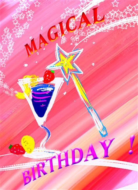 Magical Birthday Cocktail Wishes! Free Birthday Wishes