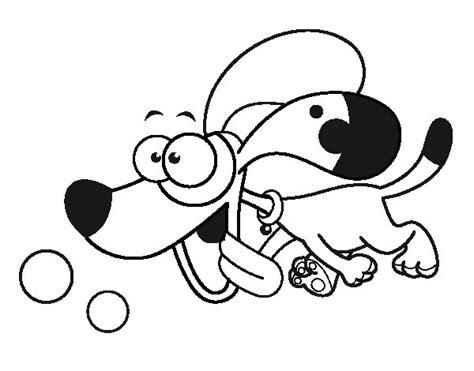 dibujos de perros para colorear dibujosnet dibujo de perrito corriendo para colorear dibujos net
