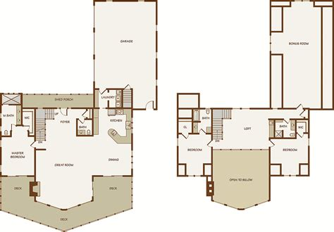 loft homes floor plans log home floor plans with loft and garage home deco plans