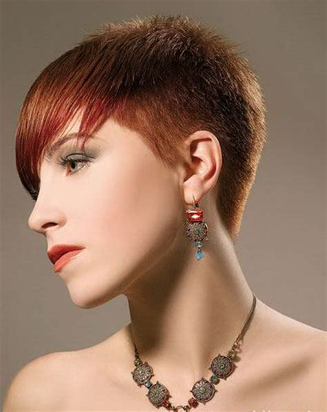 ladies short hair styles cropped short at each side short crop hairstyles for women