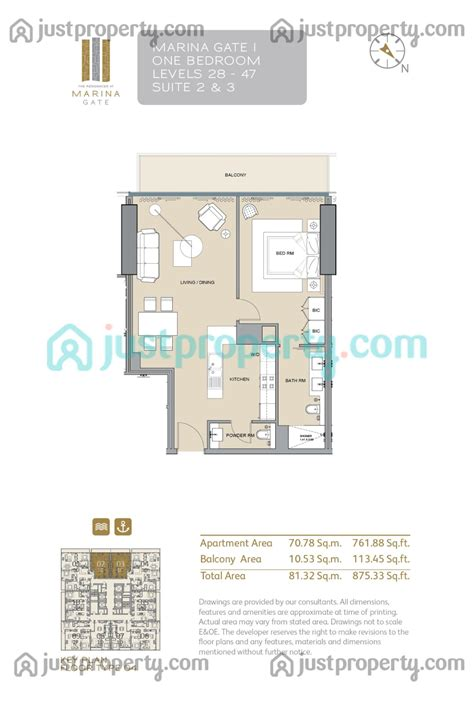 gate tower floor plan marina gate tower 1 floor plans justproperty
