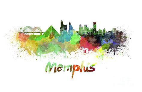 watercolor tattoos memphis skyline pictures to pin on pinsdaddy