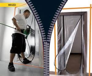 temporary plastic doors floor wall solutions carpet