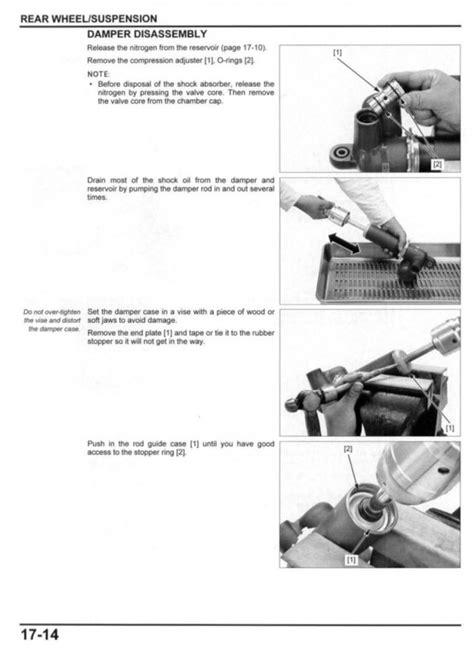 Service manual / 2017-2018 Honda CRF450R - Frank! MXParts