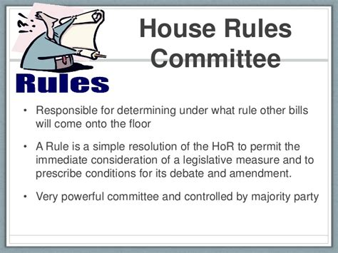 what is the house rules committee bill becomes a law